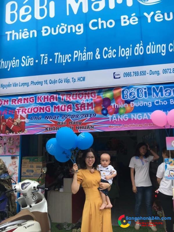 Cần sang cửa hàng sữa trẻ em quận Gò Vấp.