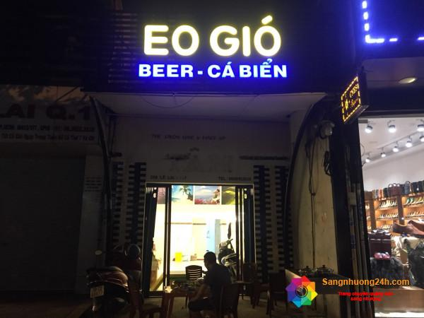 Cần sang nhanh quán ăn nhậu phục vụ món ăn đặc sản cá biển miền trung tại 208 Lê Lai, phường Bến thành, quận 1.