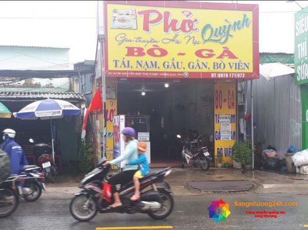 Cần sang nhượng quán phở và phòng trọ mặt tiền đường Nguyễn Ảnh Thủ, phường Hiệp Thành, quận 12.