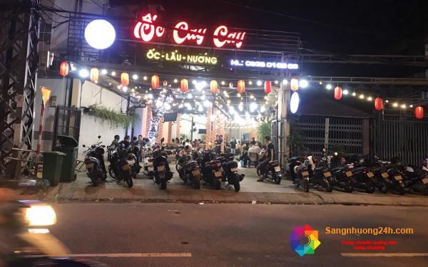 Sang nhà hàng nằm ngay mặt tiền đường lớn, khu dân cư đông, trung tâm quận Liên Chiểu, Đà Nẵng.