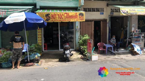 Sang nhượng tiệm tóc nam, nằm trung tâm quận 6, khu dân cư đông sầm uất.