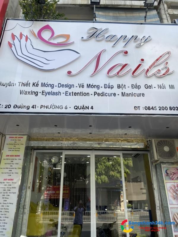 Cần sang tiệm Nail còn mới 98%, đường lưu thông 2 chiều, kế bên có 2 tiệm tóc và 1 Spa.